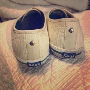 Keds x Kate Spade cream canvas slip ons 9.5